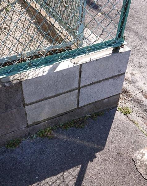 ブロックの補修工事