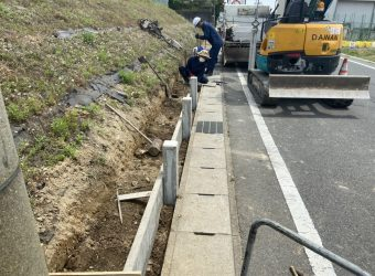 愛知県みよし市 土留め設置工事