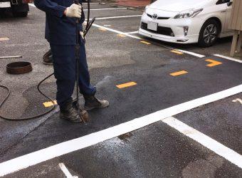愛知県あま市 駐車場アスファルト補修工事