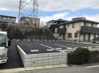 愛知県豊明市 月極駐車場 舗装工事 ライン工事 ブロック積み工事