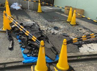 愛知県名古屋市千種区 舗装復旧工事 設備工事後