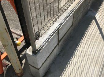 愛知県小牧市 ブロック・フェンス補修工事