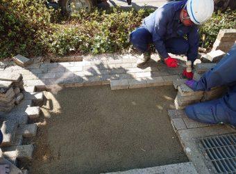 愛知県岩倉市大地町 インターロッキングブロック工事