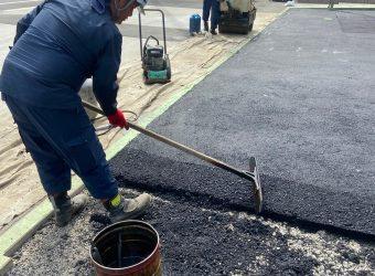 愛知県名古屋市 駐車場舗装工事 エクステリア