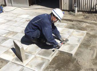 愛知県名古屋市港区 平板設置工事 外構工事