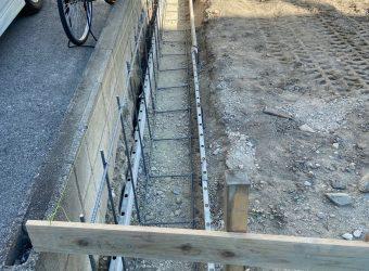 愛知県名古屋市中川区 ブロック積み フェンス 土間コンクリート工事