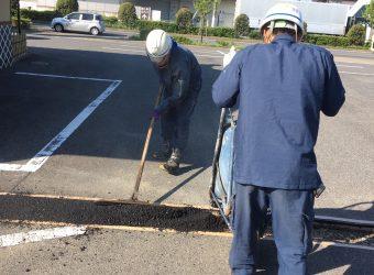 愛知県海部郡蟹江町 店舗配管工事後の舗装復旧工事