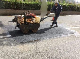 愛知県名古屋市港区 駐車場 補修工事 オーバーレイ舗装