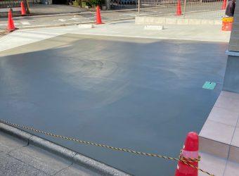 愛知県名古屋市中村区 土間コンクリート打設 左官工事