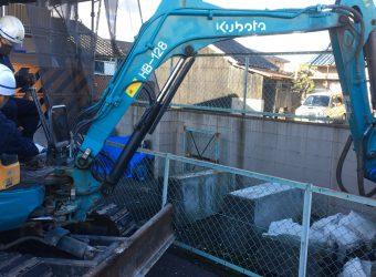愛知県名古屋市中川区 基礎コンクリート解体工事
