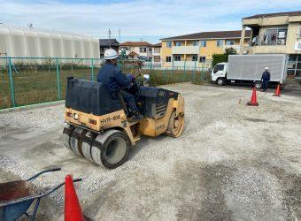 愛知県あま市七宝町 駐車場舗装工事 ライン工事