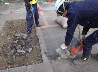 愛知県名古屋市中区 コインパーキング舗装補修工事