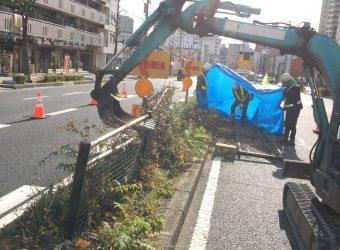 名古屋市中区 フェンス工事に伴う付帯工事