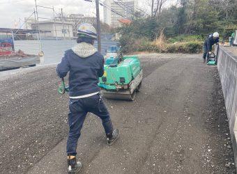 愛知県豊明市 駐車場修繕工事 解体工事 CBブロック積み工事 整地