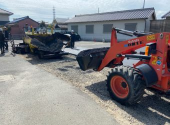 愛知県安城市にて駐車場整備工事 残土処分