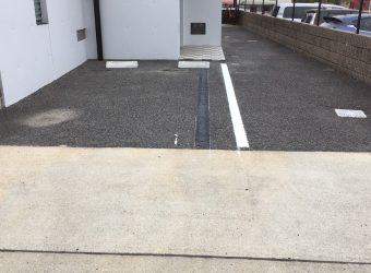 名古屋市名東区 タイヤ止めブロック ライン移設工事