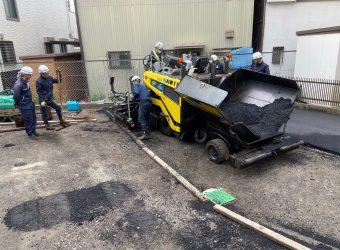 愛知県名古屋市北区 アスファルト駐車場修繕工事