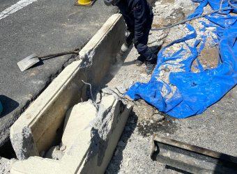 愛知県豊明市 解体 舗装 U字側溝蓋替え工事
