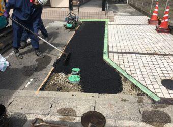 あま市 浄化槽撤去後の舗装復旧工事