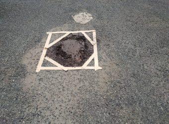 マンション駐車場 舗装補修工事 オーバーレイ
