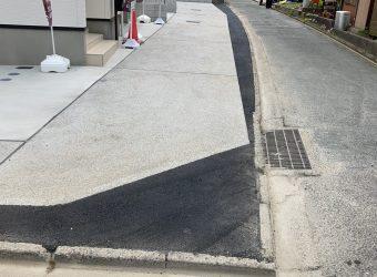 セットバック部分の舗装工事