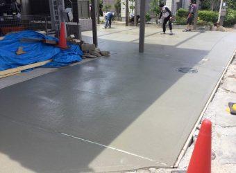 フェンス設置 土間コンクリート ブロック積み 外構工事